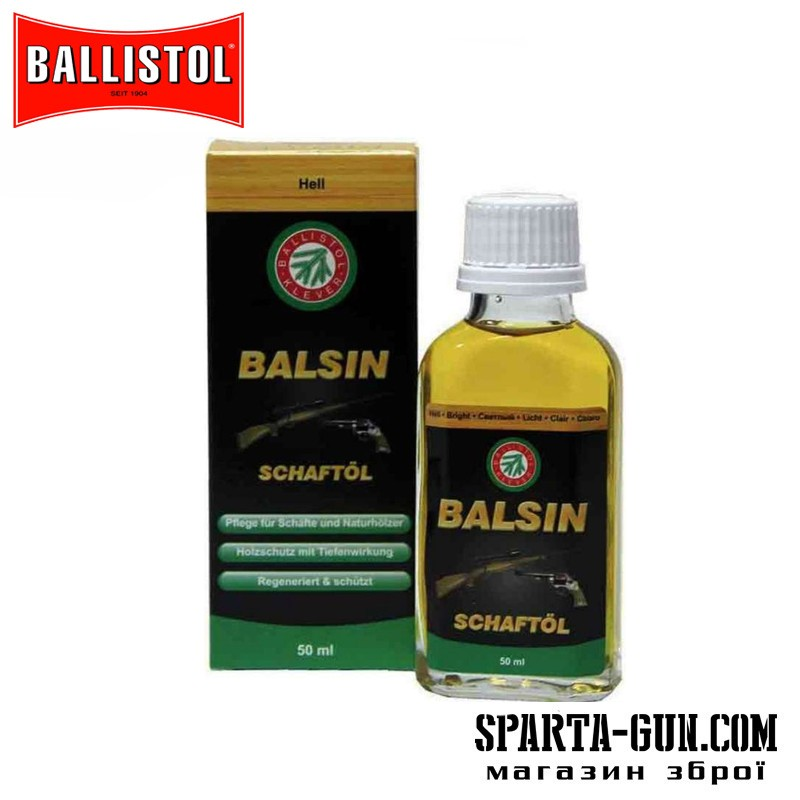 Масло для догляду за деревом Balsin 50 мл. Світло-коричневе