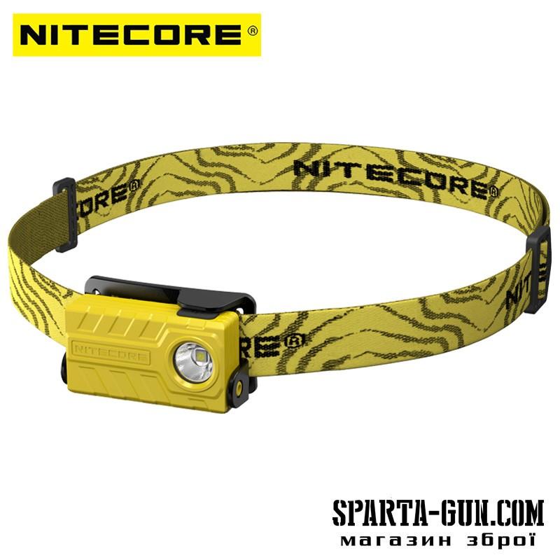 Ліхтар налобний Nitecore NU20 (Сree XP-G2 S3, 360 люмен, 6 режимів, USB), жовтий