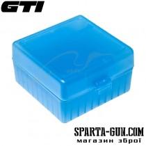 Коробка для патронів GTI Equipment кал .223 Rem. Кількість - 100 шт. Колір блакитний