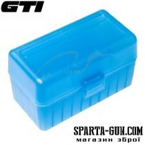 Коробка для патронів GTI Equipment кал .308 Win. Кількість - 50 шт. Колір - блакитний