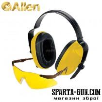 Набір Allen Safety Combo (захисні навушники і стрілецькі окуляри з лінзами з полікарбонату).