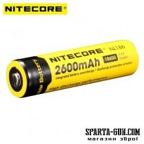 Акумулятор літієвий Li-Ion 18650 Nitecore NL186 3.7V (2600mAh), захищений