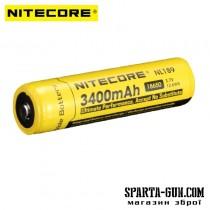 Акумулятор літієвий Li-Ion 18650 Nitecore NL189 3.7V (3400mAh), захищений