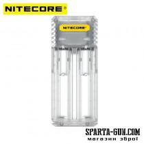 Зарядний пристрій Nitecore Q2 (2 канали), прозорий