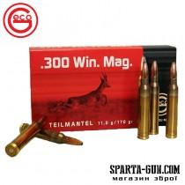 Патрон GECO кал.300 Win Mag куля TM маса 11 г