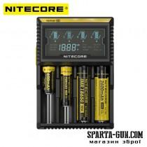 Зарядний пристрій Nitecore Digicharger D4 з LED дисплеєм (4 канали)