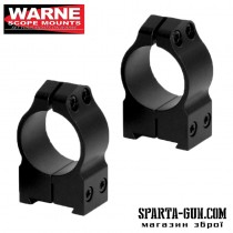 Кільця Warne MAXIMA Fixed Rings 25,4 мм. Під планку Weaver / Picatinny. Висота - Medium (середня). Сталь.