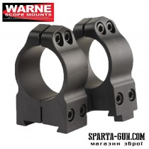 Кільця Warne MAXIMA Fixed Rings 30 мм. Під планку Weaver / Picatinny. Висота Medium (середня) під об'єктиви 42-52 мм. Сталь.
