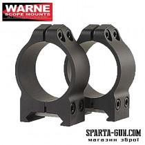 Кільця Warne MAXIMA Fixed Rings 25,4 мм. Під планку Weaver / Picatinny. Висота - Low (низький). Сталь.