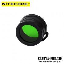 Дифузор фільтр для ліхтарів Nitecore NFG40 (40mm), зелений