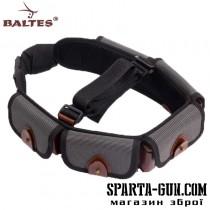 Патронташ синтетичний c кордовими клапанами, на 25 патронів, 12 калібру та розвантажувальної шлеей