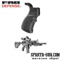 Рукоятка пістолетна FAB Defense AGR-43 прогумована для M4 / M16 / AR15. Колір чорний