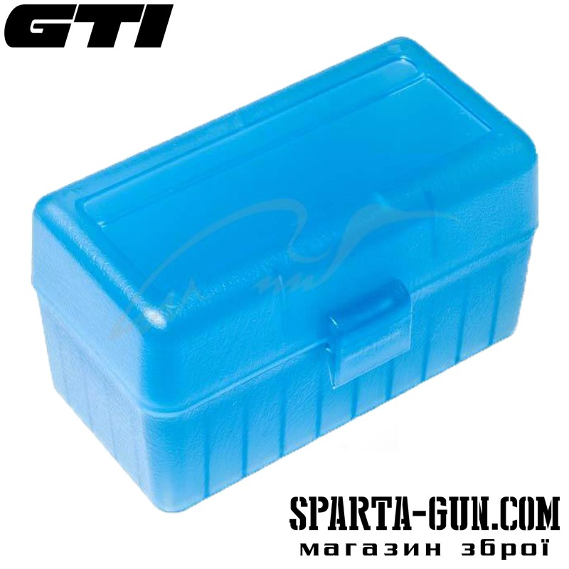 Коробка для патронов GTI Equipment кал .308 Win. Количество - 50 шт. Цвет - голубой