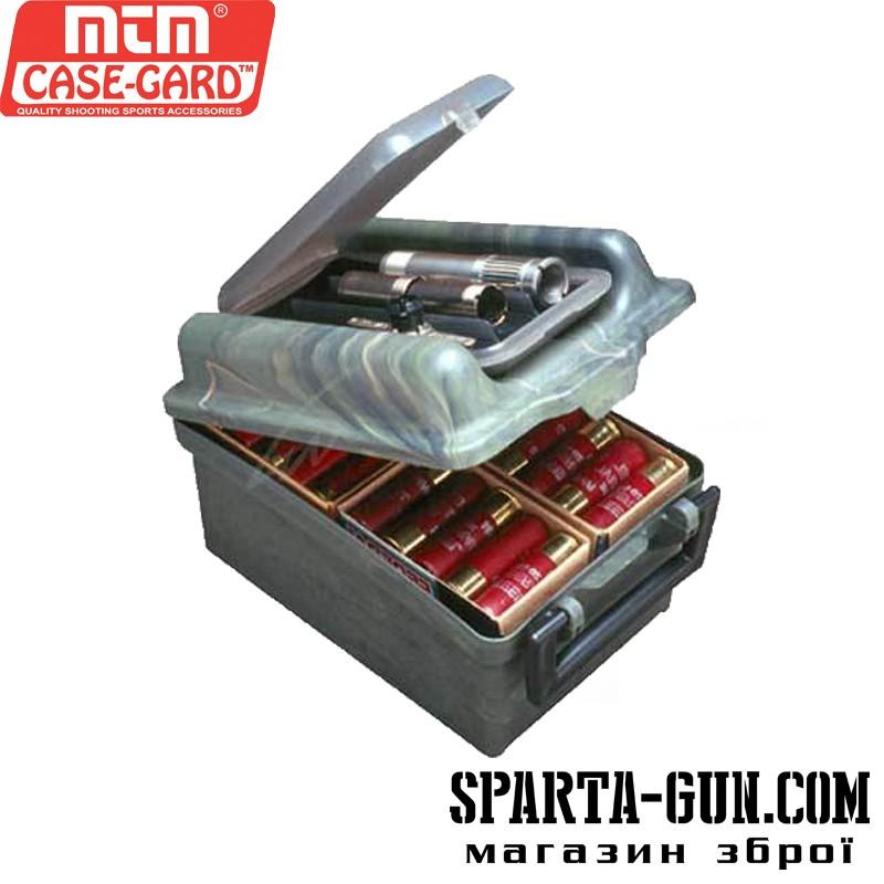 Коробка пластмассовая MTM SW-100 на 100 патронов кал. 12/76. Цвет – камуфляж