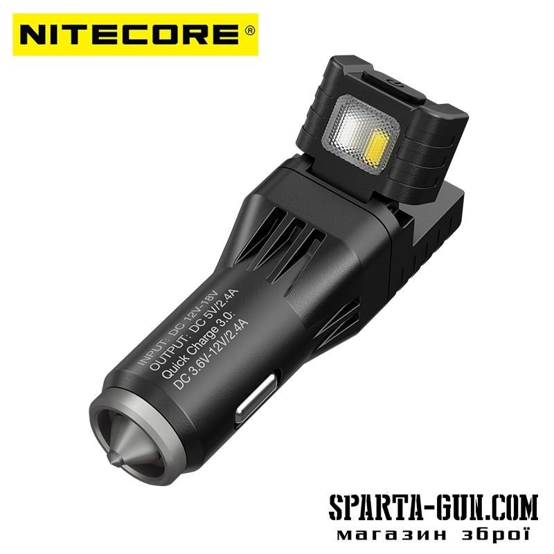 Многофункциональное зарядное автомобильное устройство Nitecore VCL10 (USB)
