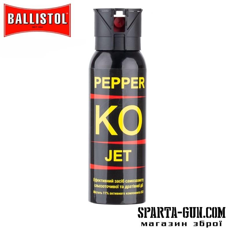 Газовый баллончик Klever Pepper KO Jet струйный. Объем - 100 мл