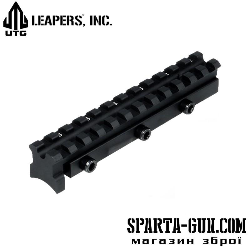 База крепления UTG (Leapers) MNT-DN460 для пневматической винтовки. С минимальным занижением ствола.