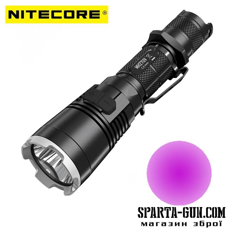 Фонарь Nitecore MH27UV (Сree XP-L HI V3 + ultraviolet LED, 1000 люмен, 13 режимов, 1х18650, USB)