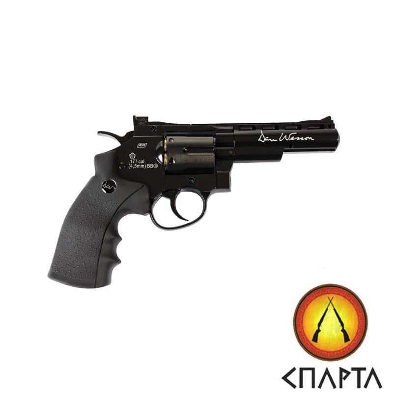 Пневматический револьвер ASG Dan Wesson 4'' Black