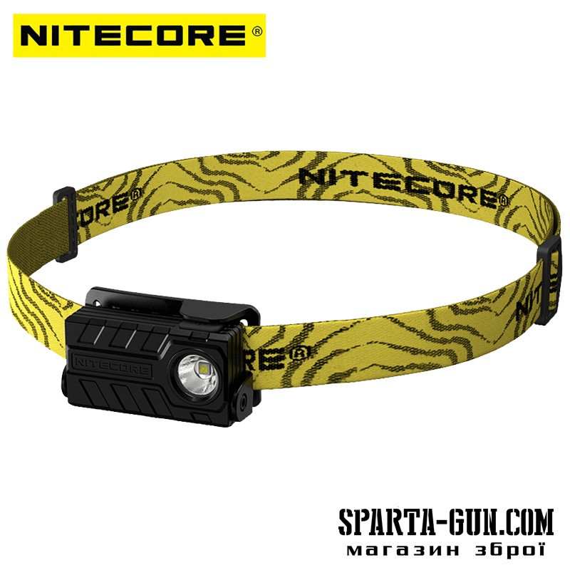 Фонарь налобный Nitecore NU20 (Сree XP-G2 S3, 360 люмен, 6 режимов, USB), черный