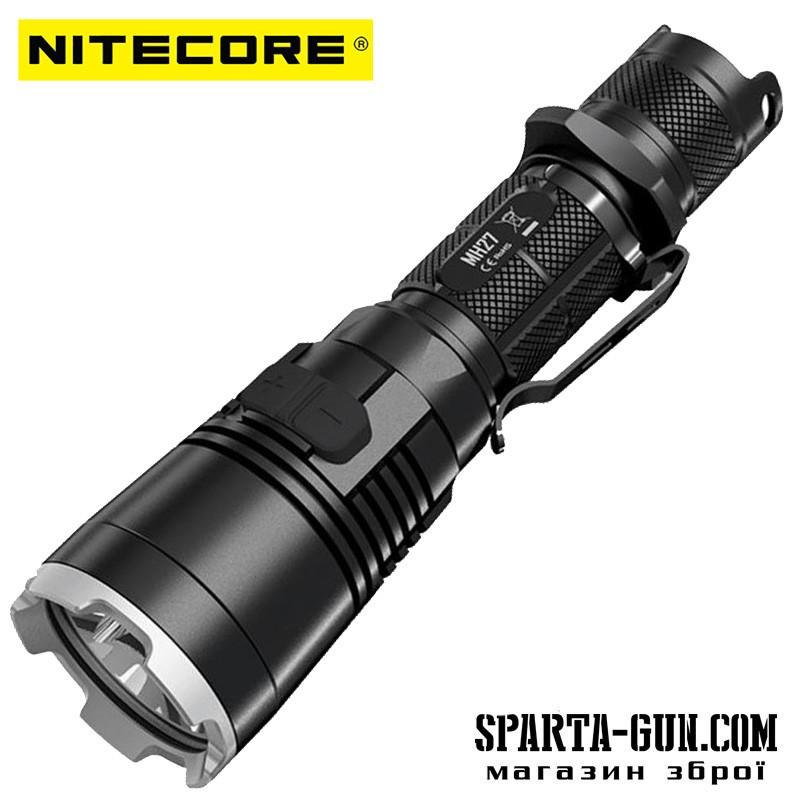 Фонарь Nitecore MH27 (Сree XP-L HI V3, 1000 люмен, 13 режимов, 1х18650, USB)