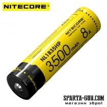 Аккумулятор литиевый Li-Ion 18650 Nitecore NL1835HP 3.6V (8A, 3500mAh), защищенный