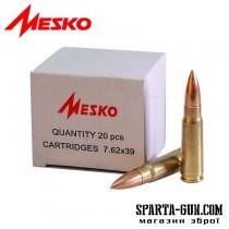 Патрон Mesko кал. 7,62х39 пуля - FMJ масса - 8,0 г/ 123 гр