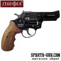 """Револьвер флобера ZBROIA PROFI-3"""" (чёрный / дерево)"""