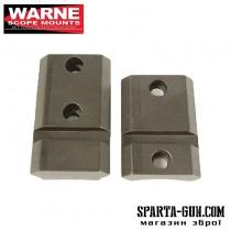 Планка раздельная Warne MAXIMA 2-Piece Steel Rail (Weaver/ Picatinny) для карабина Remington 700/Sauer S101/Haenel Jaeger 10 с длинной или короткой ствольной коробкой (Long/ Short Action). Сталь.