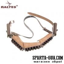 Патронташ наборной с 1-но рядными подсумками на 30 патронов (кожа юфтевая)