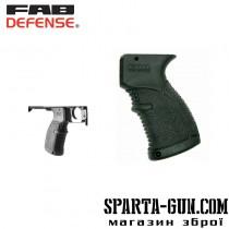 Рукоятка пистолетная FAB Defense AGR-47 прорезиненная для АК-47/74 (Сайга). Цвет - черный