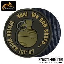"""Шеврон """"We Can Share"""" - PVC - US Brown"""